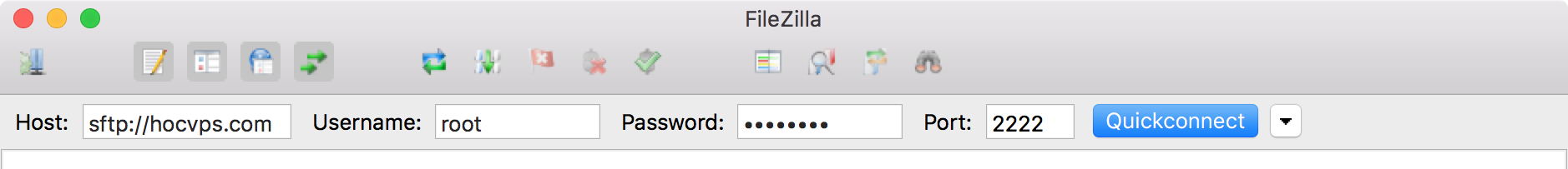FileZilla Quick Connect