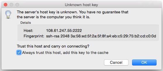 Trust host key