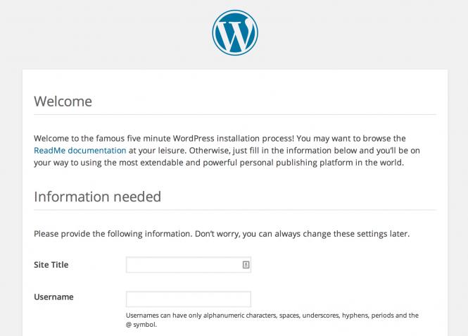 Cai dat WordPress