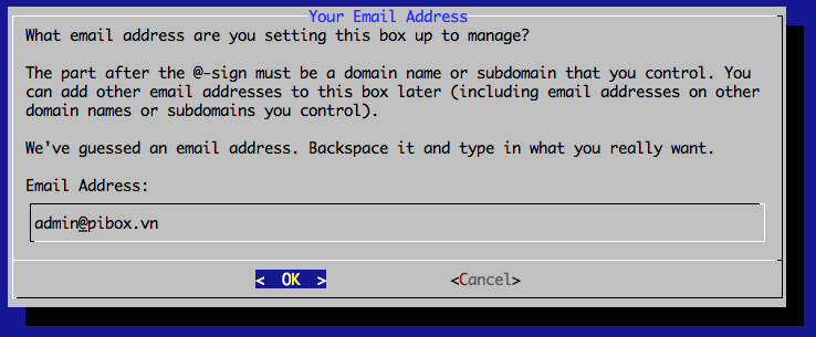 Mail-in-a-Box Admin Email Address