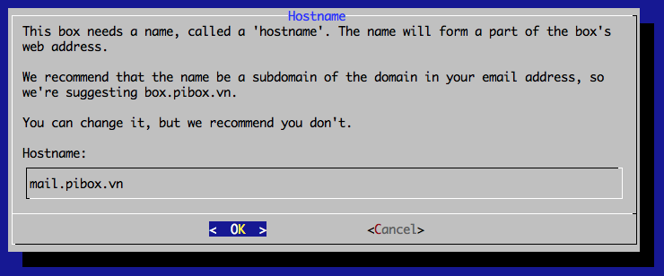 Mail-in-a-Box Hostname