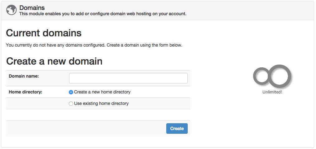 Sentora Domain Management