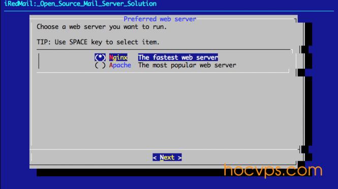 iRedMail Web Server