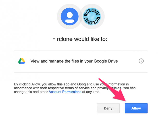 cap-quyen-cho-rclone-truy-cap-google-drive