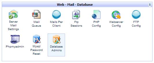 kloxo database admin