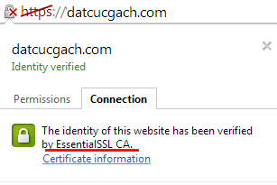 ssl verified