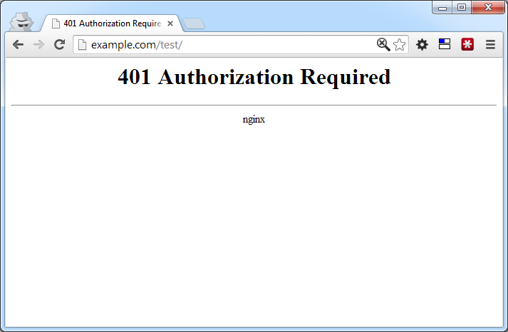 Basic HTTP Authentication Error