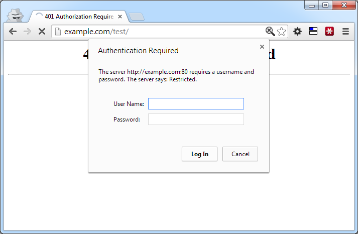 Basic HTTP Authentication