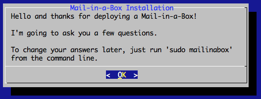 Mail-in-a-Box Installation