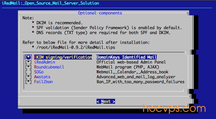 Cài đặt Mail Server với iRedMail trên Ubuntu - Học VPS