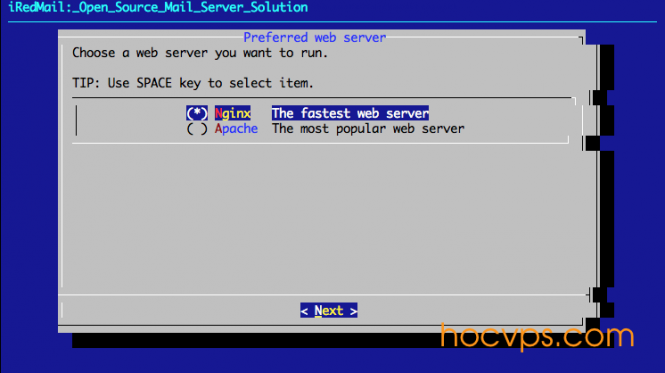 iRedMail Web Server