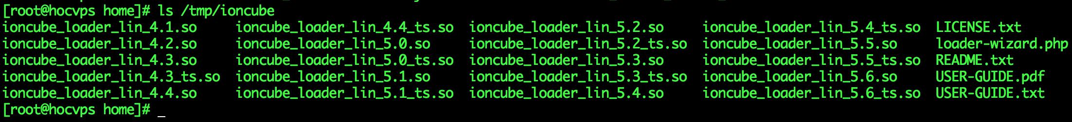 Cac phien ban ionCube Loader