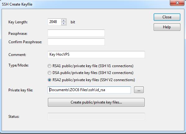 Đăng nhập server dùng SSH Keys, không cần Password - Học VPS